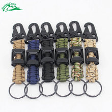 Jeebel 550 4mm Paracord Carabiner Survival Keychain Lanyard with Bottle Opener Outdoor Camping Bushcraft Ropes Bracelets