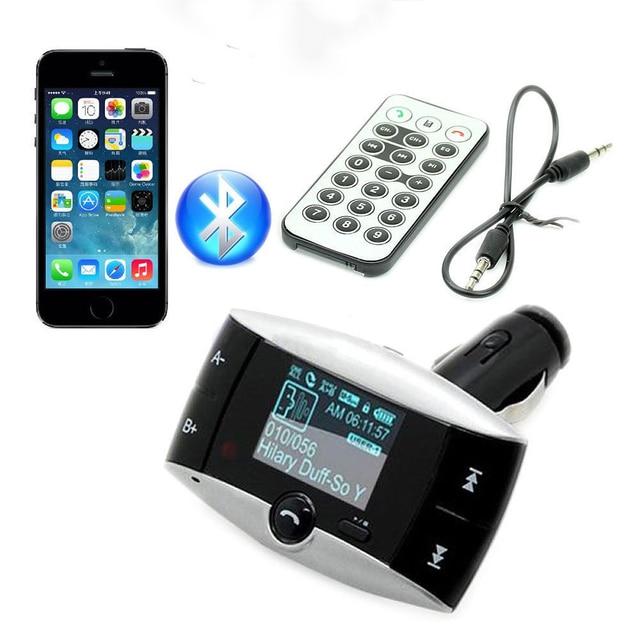 2016 Nueva 1.5 pulgadas LCD Bluetooth Car Kit Reproductor de MP3 Sin Hilos FM Del Modulador Del Transmisor SD MMC USB Remoto, envío Gratis