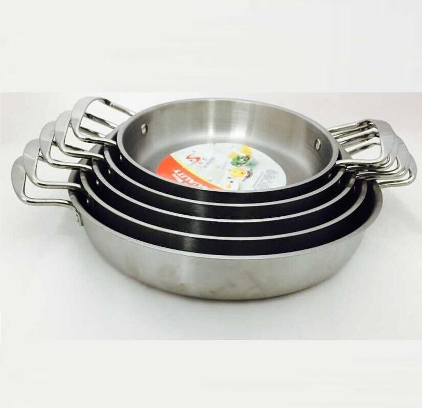 22 см-покрытие Нержавеющаясталь сковорода жаровни и гриль Кастрюли