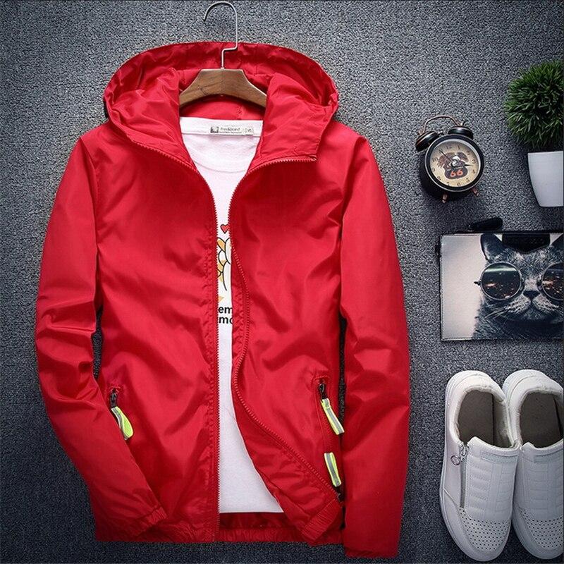 Plus Size 6xl 7xl New Spring Autumn Bomber Jacket Men Women Casual Solid Windbreaker Zipper Thin Hooded Coat Outwear Male Jacket #5