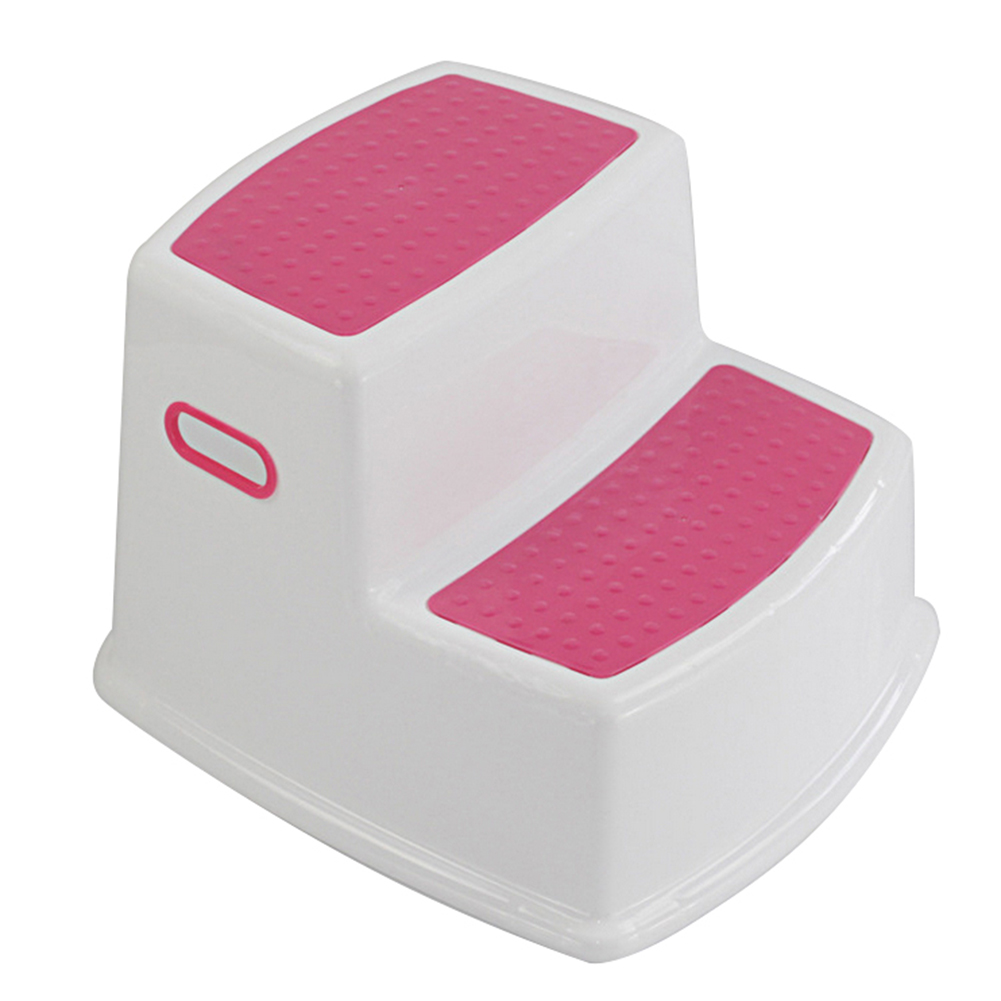 2 Step Stool For Kids Toddler Stool For Toilet Potty Training Slip Bathroom Kitchen HUG-Deals