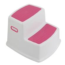 2 Step Stool for Kids Toddler Stool for Toilet Potty Training Slip Bathroom Kitchen HUG-Deals