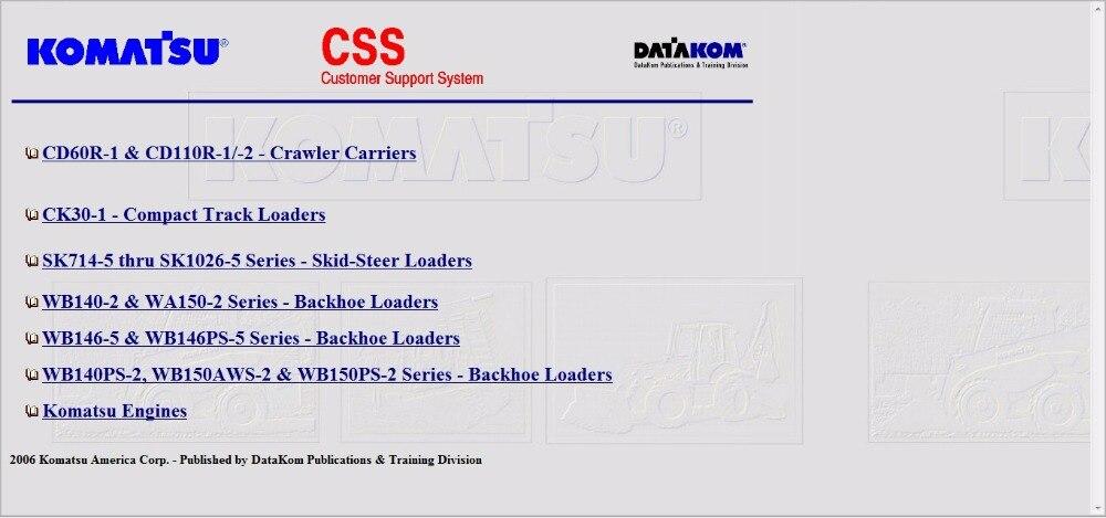 KOMATSU CSS Repair Manuals and WIRING DIAGRAMS 2008 FULL SET PDF  version|repair manual|wiring diagram - AliExpresswww.aliexpress.com