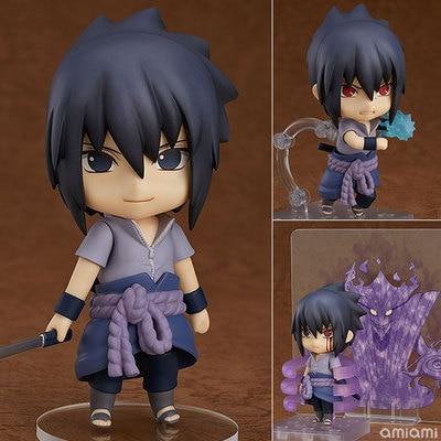 Nendoroid Mini Action Figure – 707 Anime Naruto Shippuden  Sasuke Uchiha Doll   Brinquedos