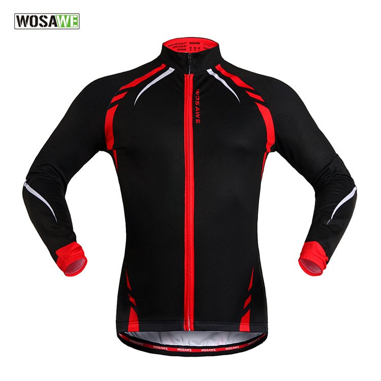 59ece1d25 WOSAWE Men Winter Thermal Fleece Fitness Running Cycling Jacket Outdoor  Sports Bike Bicycle Windproof Coat Long Sleeve Jersey-in Cycling Jackets  from Sports ...