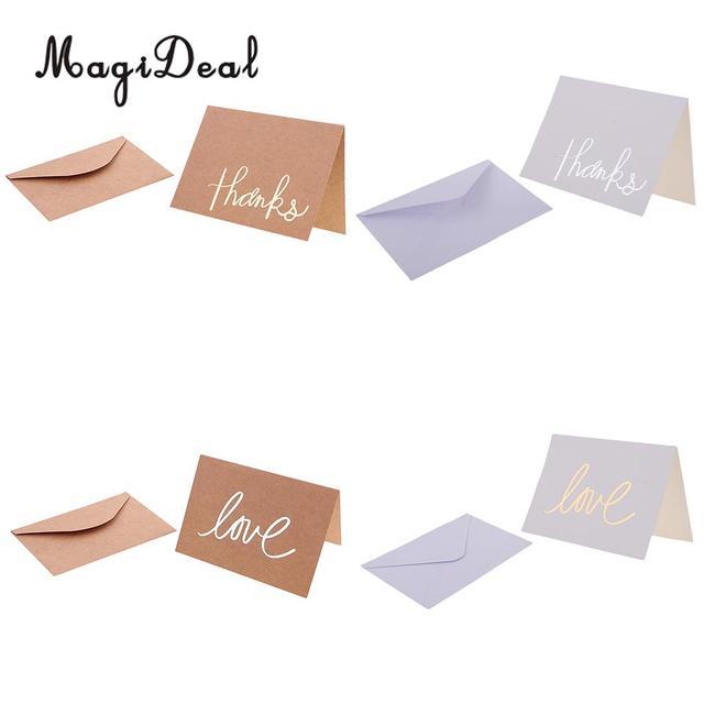 12 set kraft paper cards blank wedding thank you card greeting cards