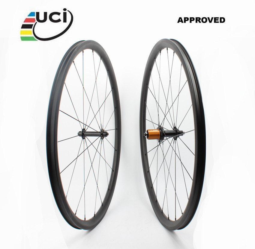 Tubeless Farsports FSC30-CM-23 ED hub ultralight China bike carbon road wheel,30mm deep 23 wide bicycle clincher rim wheelset