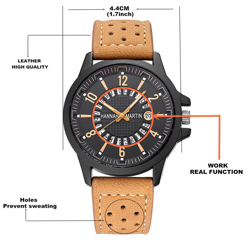 Hannah Martin Men Army Date Leather Stainless Steel Sport Quartz Wrist Watch Relogio Feminino Erkek Kol Saati Mens Watches Skmei north calendar quartz wrist watch stainless steel bracelet men watch relogio feminino erkek kol saati mens watches skmei saat