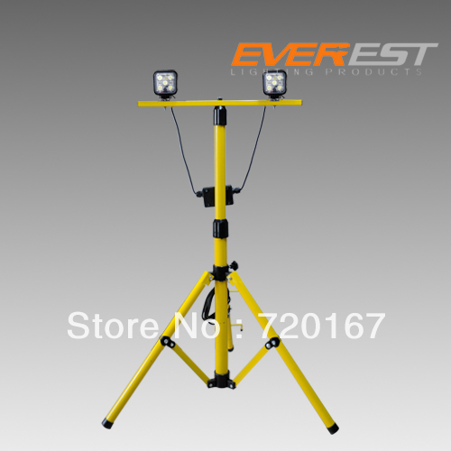 Twin Head Telescoping Tripod Stand Led Work Light For Industrial Lighting Project Light Other