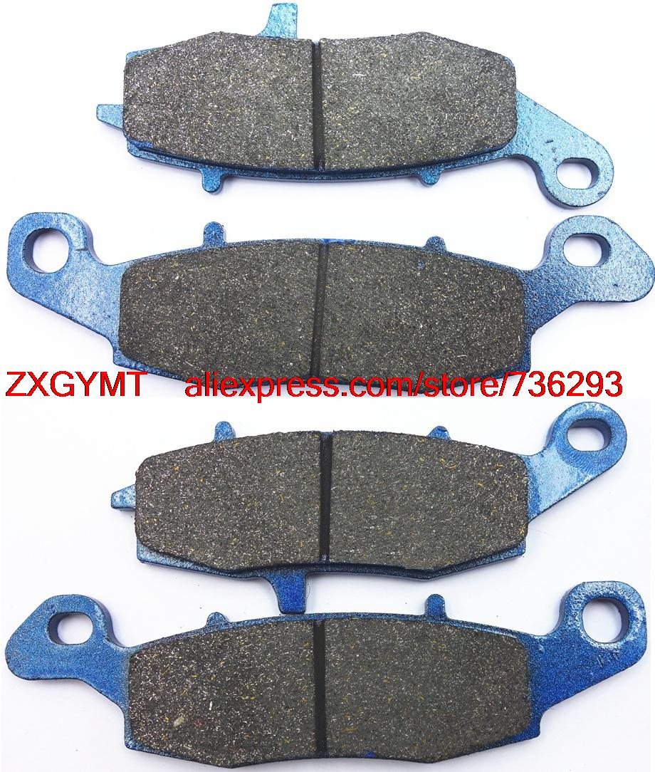Motorcycle Semi Metallic Disc Brake Pads Set fit for KAWASAKI VN900 VN 900 Vulcan Custom 2007 & up motorcycle front and rear brake pads for for kawasaki vn 1700 vn1700 vulcan vaquero 2011 2014 black disc pad