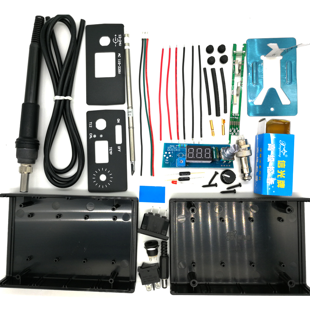 DIY Digital T12 2019 New Handle Controller Switch Soldering Electric Station LED Kits Temperature QUICKO Vibration Unit Iron