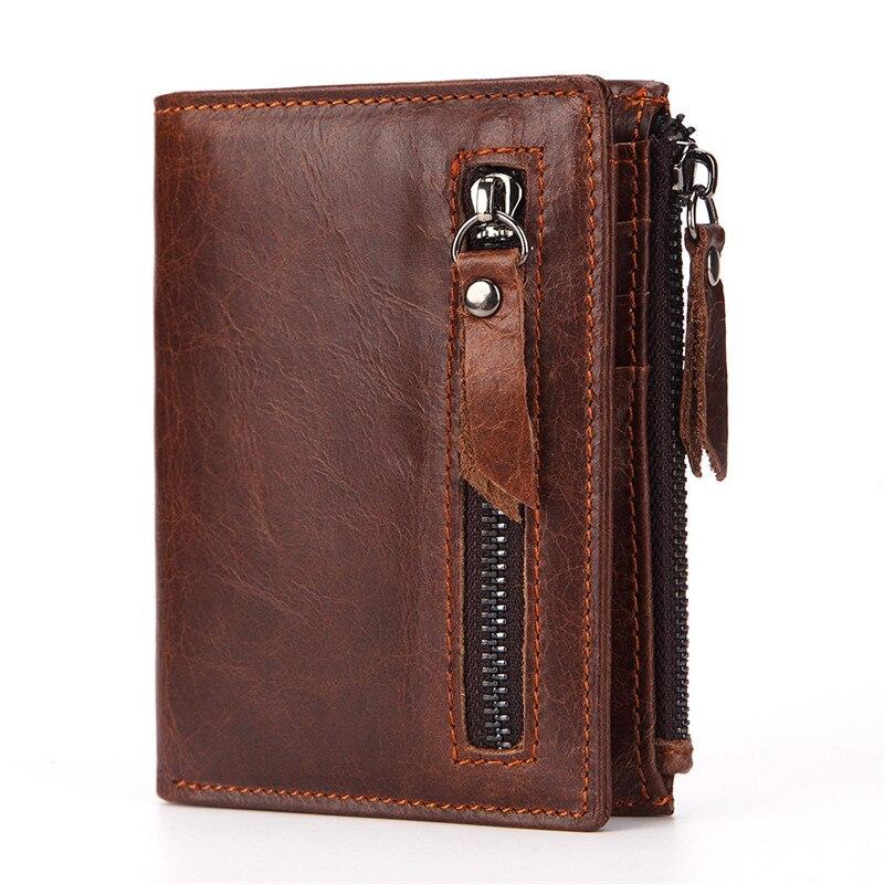 Vintage Mens Genuine Leather Wallet Coin Pocket Card Holder Bifold Purse