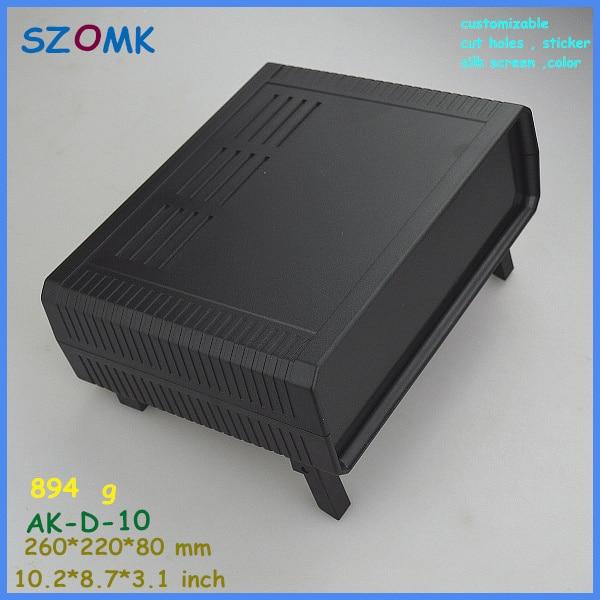 szomk electronic project enclosure junction box (1 pcs) 260*220*80mm plastic box enclosure desktop electric distribution box