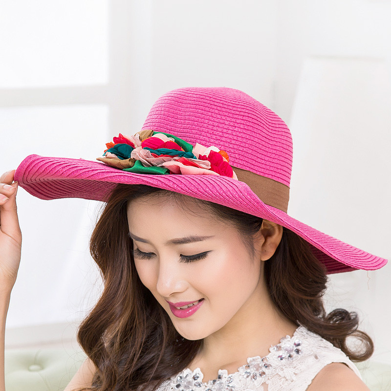 a1af1cfbe12 women's summer sun hats big beach hats for women foldable sun hat ...