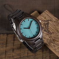 Japanese Movement 2035 Wood Watch With Genuine Leather Strap Fashion Quartz Watch For Men And Women