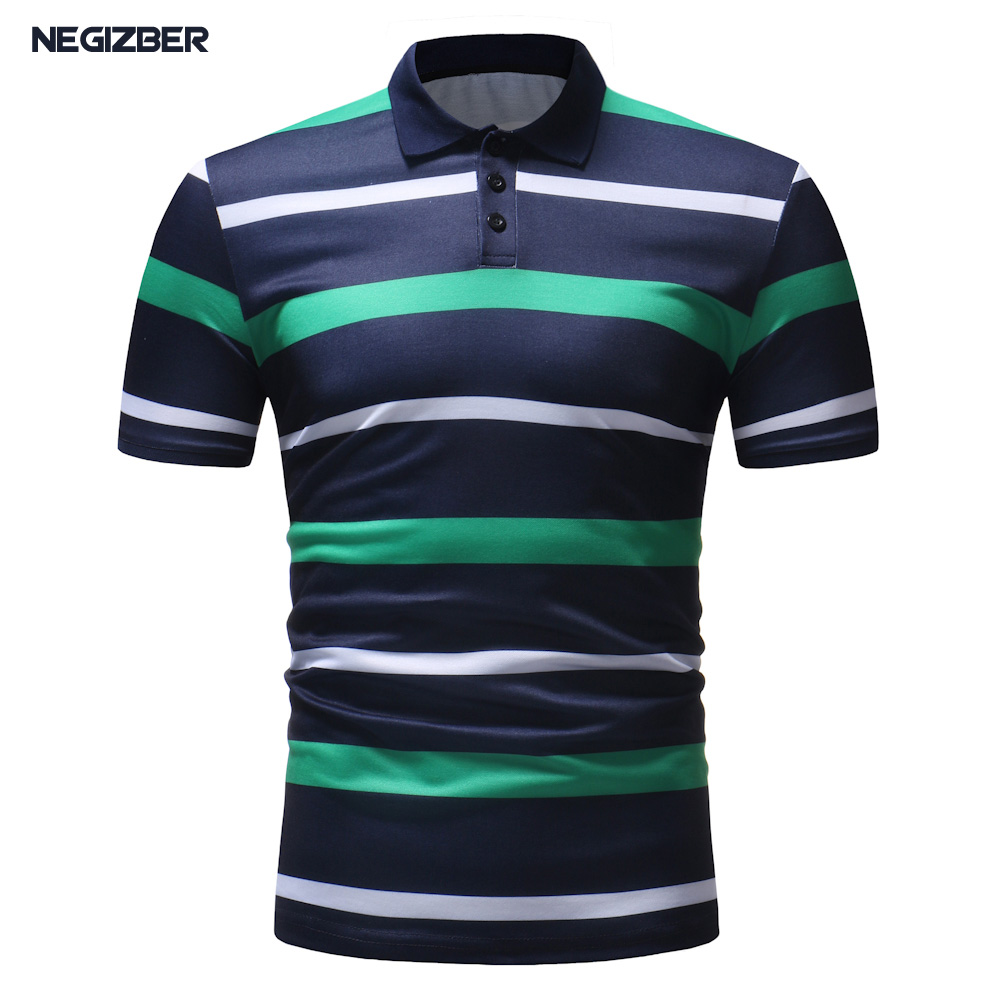 Men   Polo   Shirt 2018 Summer Mens Business Casual Striped Short Sleeve   Polo   Shirt Men Slim Fit Brand Clothing   Polos   Shirt Homme