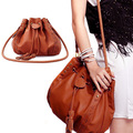 Fashion Scrub Women Bucket Bag Vintage Tassel Messenger Bag Large Retro Girls Shoulder Bag Simple Crossbody Bag Free Shipping