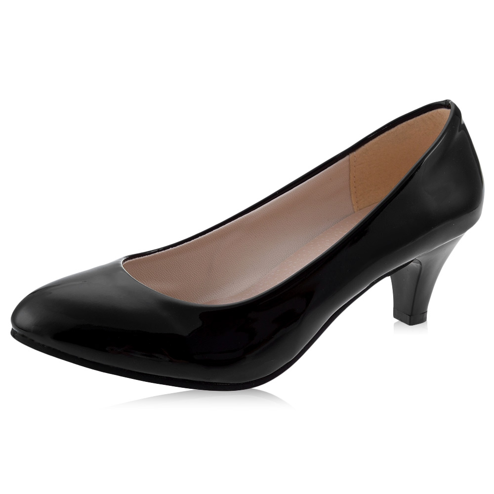 cecda98631e Guapabien Spring Summer Elegant Ladies Pumps Shallow Mouth Low Heel  Business Shoes Women PU Leather Shoes Heels Single Shoes-in Women s Pumps  from Shoes on ...