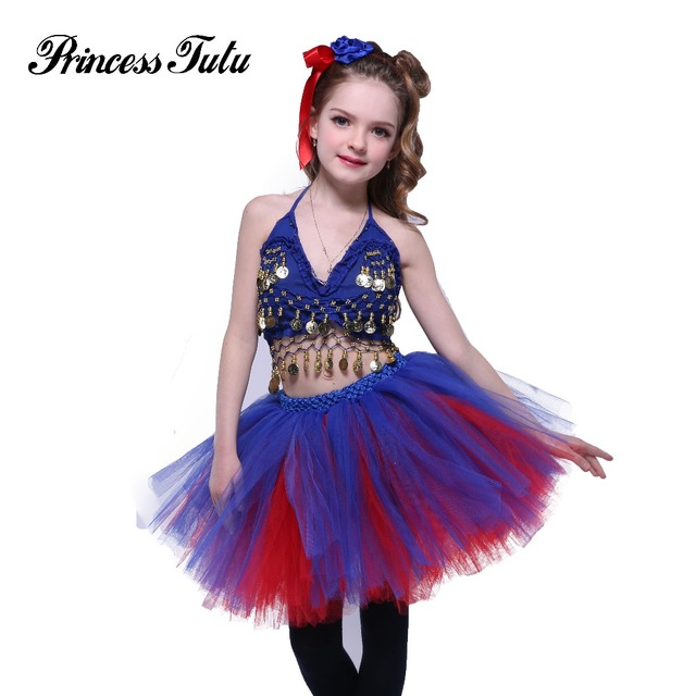 9e5f246f56cf Princess Tutu Girl Party tutu Dress Fourth of July Patriotic Day Knee  Length Ball Gown Perform Dress With Headband For 2-10Y