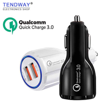 Tendway USB Car Charger Auto Qc 3.0 Fast Mobile Phone