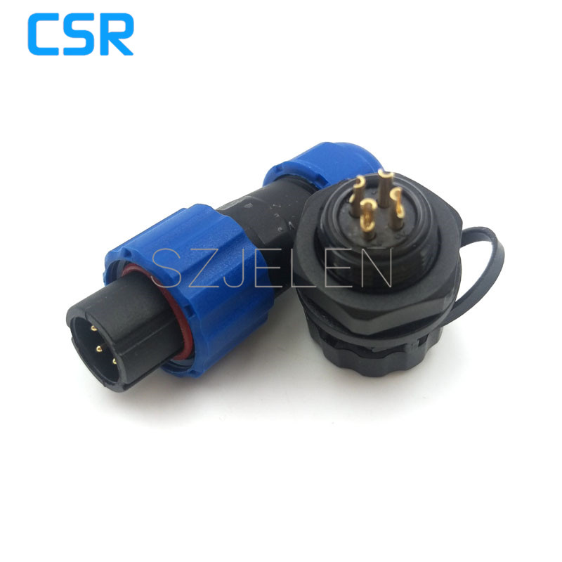 SD13 , 4 pin cable connectors waterproof 250v sockets led cabinet Power connector, 4pin waterproof panel mount connector,IP68 106171 2030[fiber optic connectors bsc back panel adapt k pa mr li