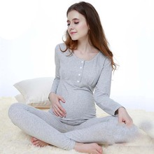 Winter and Autumn Women Big Size Full Sleeve Pregnant Clothes Maternity Sleepwear Cotton Maternal Nursing Breastfeeding Pajamas
