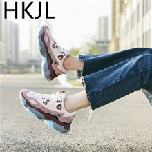 HKJL 2019 new spring and fall dad shoes for women Korean version of the original thick soles su-joker sneakers trend A539