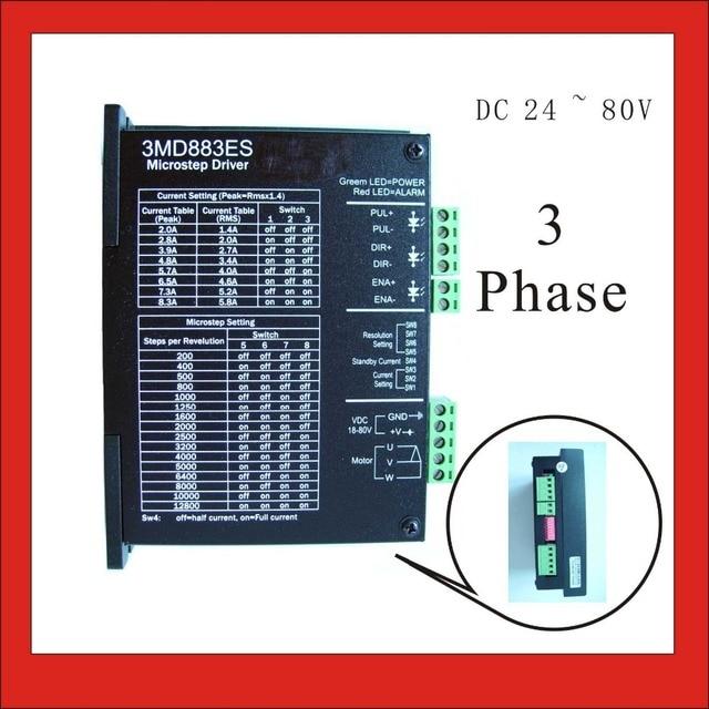 3 phase stepper motor driver 3md560es for nema 17/23/34 stepping.