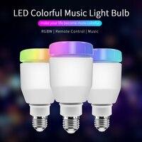RGB LED Lamp e27 110V 220v led lamp 7W 5W Wireless Wifi Remote Control Bluetooth Speaker Music led light bulb BB SPEAKER