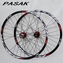 PASAK P01 26 inç MTB dağ bisikleti bisiklet CNC ön 2 arka 4 mühürlü rulmanlar disk tekerlekler tekerlek jant 27.5 29