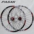 PASAK P01 26 pollici MTB mountain della bici della bicicletta di CNC anteriore 2 posteriore 4 cuscinetti sigillati ruote a disco wheelset rim 27.5 29