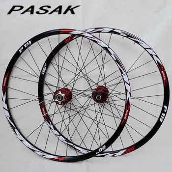 PASAK P01 26inch MTB mountain bicycle bike CNC front 2 rear 4 sealed bearings disc wheels wheelset rim 27.5 29 - DISCOUNT ITEM  18% OFF All Category