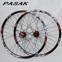 PASAK 26inch MTB Mountain Bicycle Bike CNC Front 2 Rear 4 Sealed Bearings Disc Wheels Wheelset