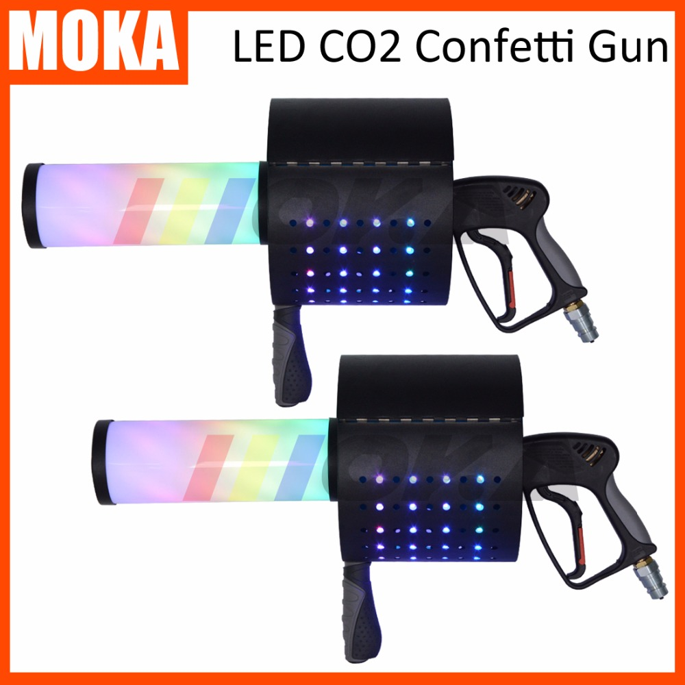 2 pcs/lot LED CO2 Confetti gun LED CO2 Jet Machine co2 gun cryo fx special effect co2 blaster stage confetti machine 4pcs lot fligt case special effect co2 cryo jet dj equipment co2 smoke machine for clubs concert theater