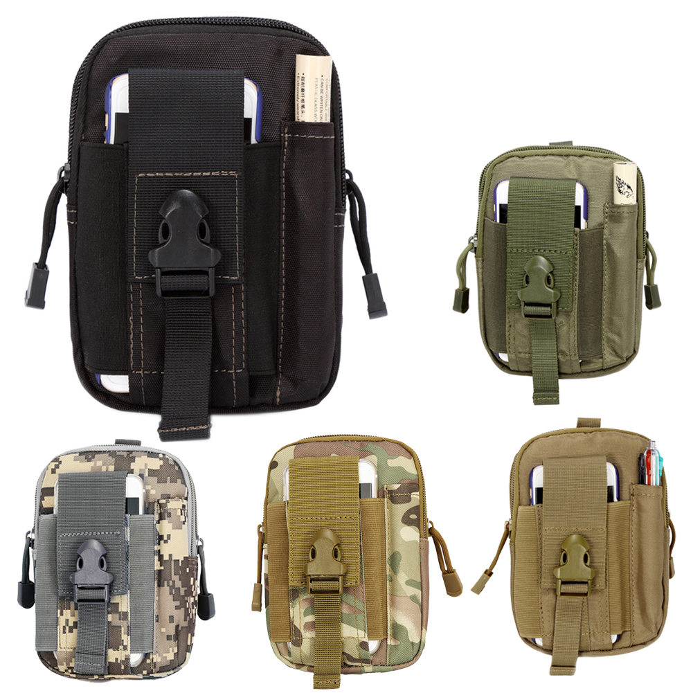 8b99febd6419 High Quality Outdoor Military Tactical Waist Pack Bag EDC Camping Hiking  Wallet Phone Case Pouch Portable Shoulder Bags BHU2-in Climbing Bags from  ...