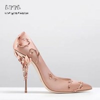 2017 Pointed Toe Haute Couture Collection SHOES Eden Heel Wedding Pump Super Sexy Women High Heel