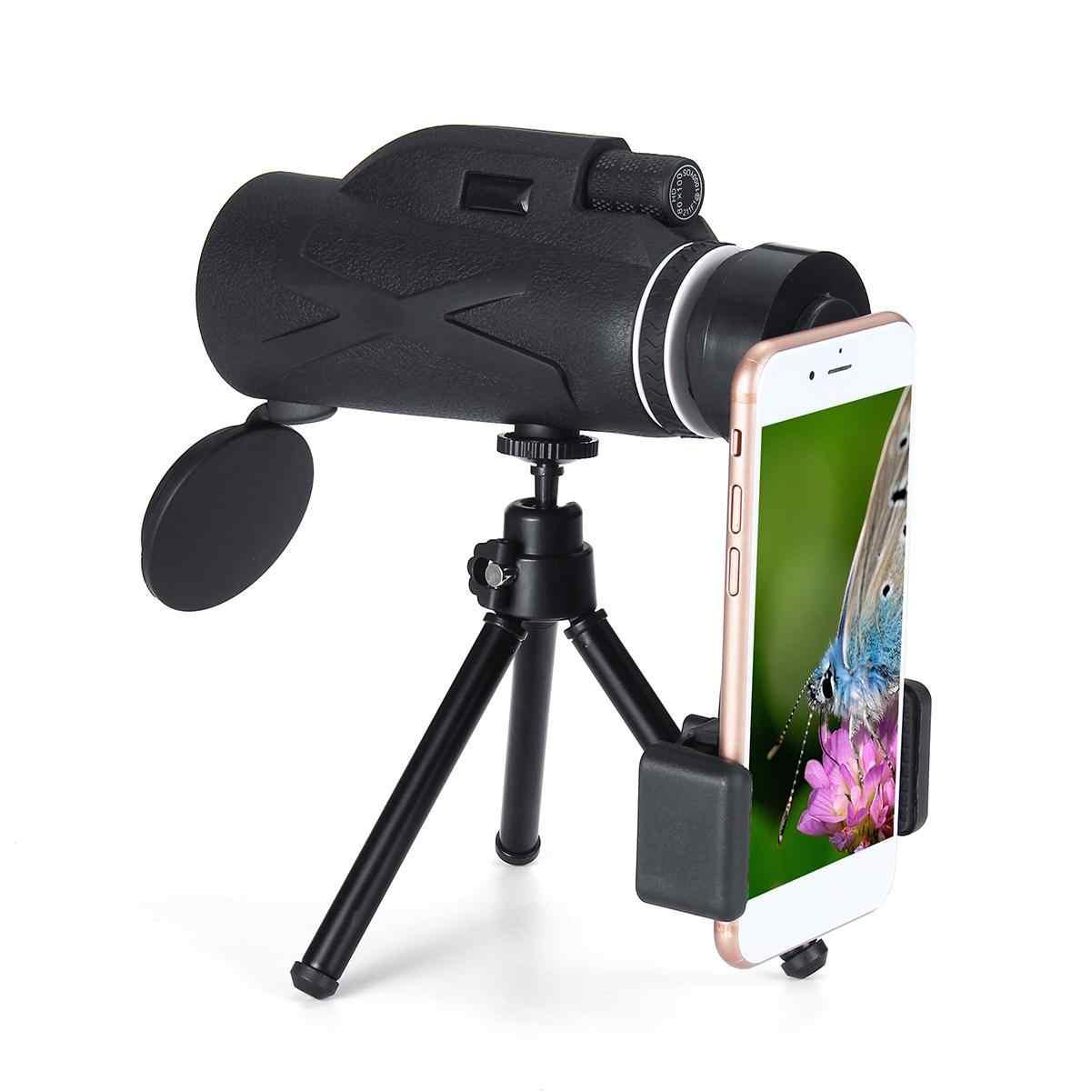 80 × 100 倍率ポータブル単眼望遠鏡双眼鏡ズーム偉大なハンドヘルド望遠鏡軍事 Hd 強力な狩猟