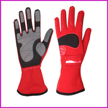 Free shipping Newest Kart Racing Glove sport karting glove professional Car 3 colour(Red/Blue/Black)