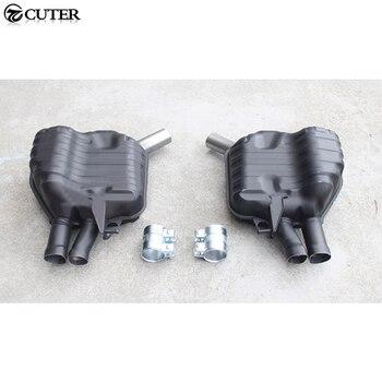 A7 S7 RS7 aço Statinless Auto Car Escape Dicas tubos de cauda trims para Audi A7 S7 RS7 corpo Do Carro kit 11-15
