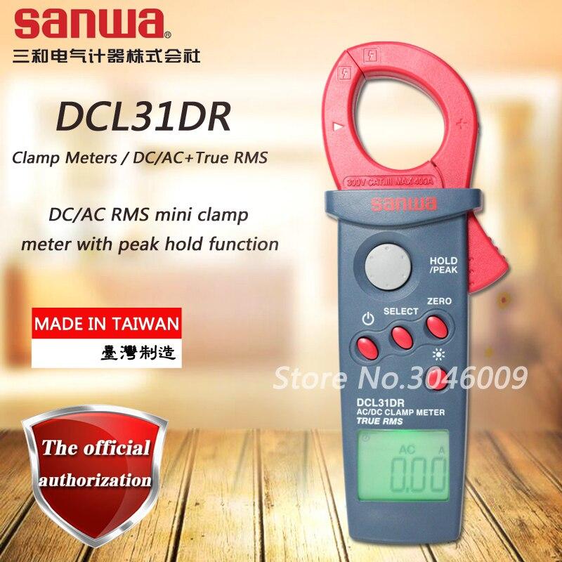 Sanwa DCL31DR DC/AC RMS mini clamp meter; 400A digitale amperometro