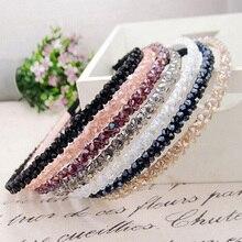 Hot Women Handmade Headband Flower Crystal Beads Hairband Hair Band Head Piece  77I5