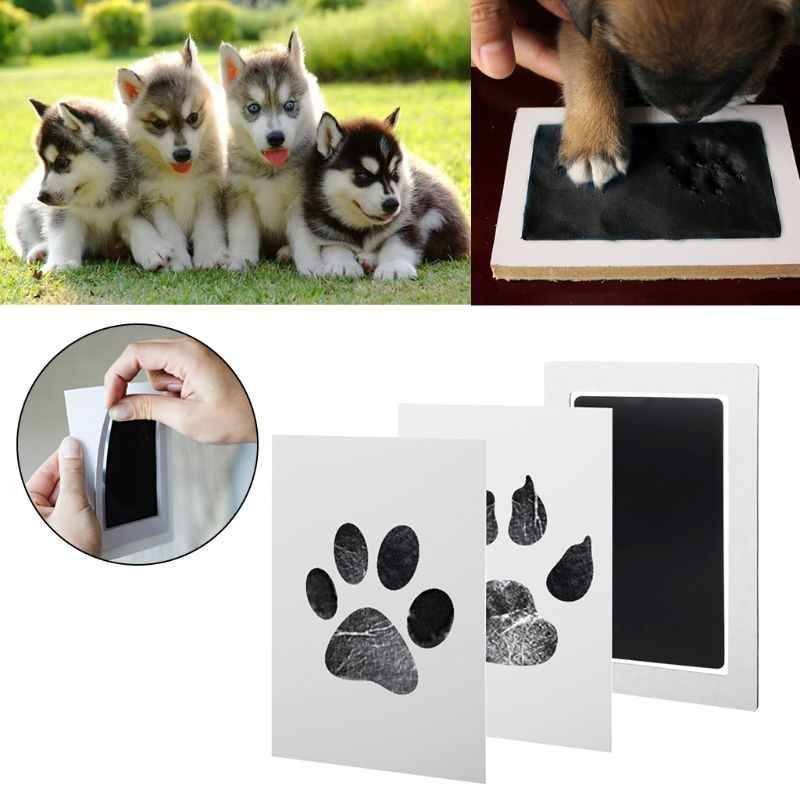 1Set Baby Handprint And Footprint Ink Pads Paw Print Ink Kits For Babies And Pets Footprint Ink Pad 6 Colors