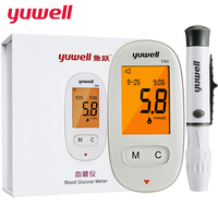 yuwell Glucometer Blood Glucose Meter Medical Diabetic Blood Sugar Monitor Meter Digital Backlit LCD Health Equipment Gift 590