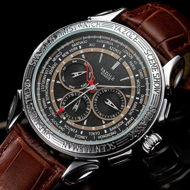 Men Watches 2019 YAZOLE Top Brand Luxury Fashion Sports Watches Men Vintage engraving Watches Quartz Hodinky Relogio Masculino 4