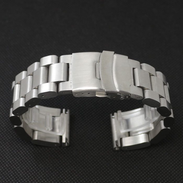 цены  26mm Silver New Polishing Stainless Steel Solid Links Watch Bands Straps men watch Bracelet Straight End  GD013426