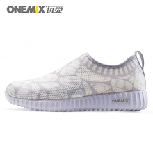 ONEMIX Women White Ligthweight Summer Casual Shoes Sock-Like Outdoor Sneakers Zapatos De Mujer