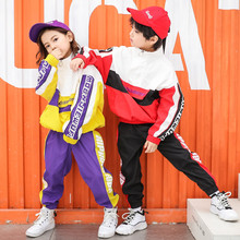 Kids sportswear tracksuit Boys Girls 10 12 14 years Hip Hop Costumes Kids Jazz Street Dancewear Clothes Dancing Stage Show