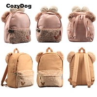 High Quality Pink Shelliemay & Duffy Bear Canvas Soft Plush Backpack with Bowknot Kawaii Duffy Bear Women Schoolbag for Girls