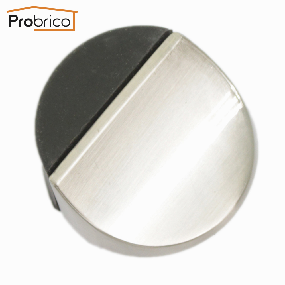 door stopper. Probrico Door Stopper DS8296 Zinc Alloy Satin Nickel/Polished Chrome Powerful Floor Mounted Holder Catch Rubber Stop-in Stops From Home