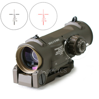 Tactical Rifle Scope 1x-4x Fisso Dual Purpose Scope Rosso illuminato Red Dot Vista per Fucile di Caccia di Tiro